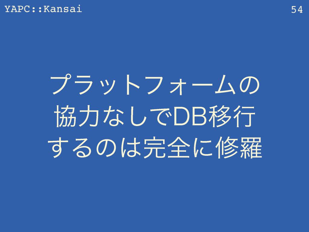 YAPC::Kansai ϓϥοτϑΥʔϜͷ ڠྗͳ͠Ͱ%#Ҡߦ ͢Δͷશʹमཏ 54