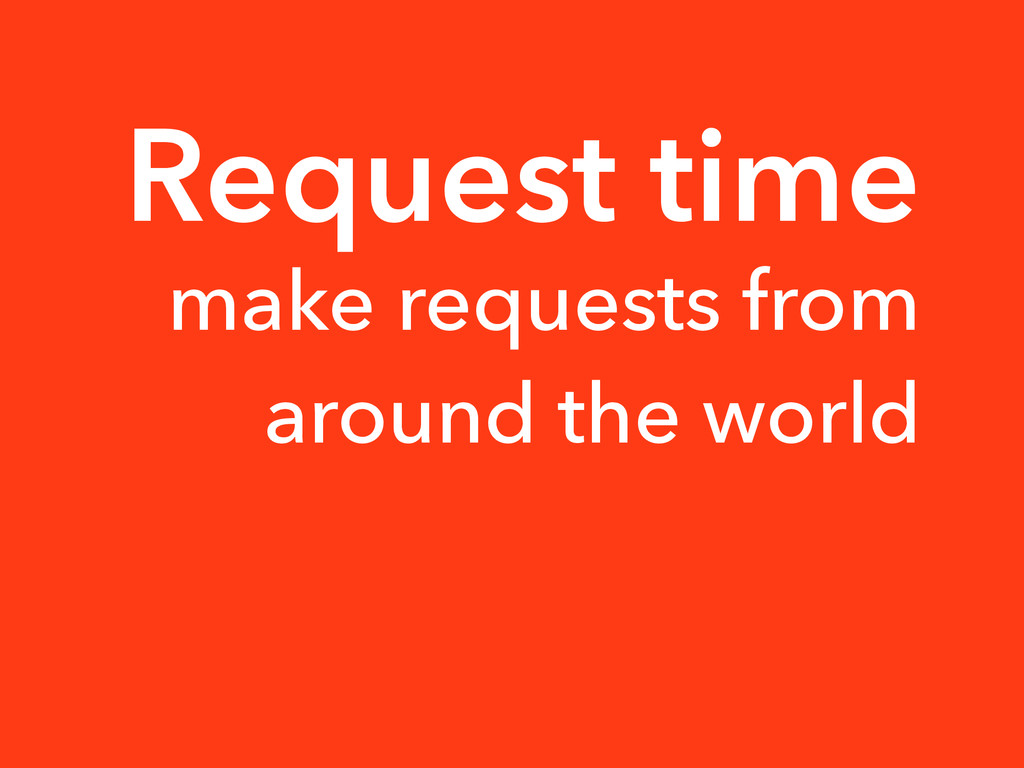 Request time make requests from around the world