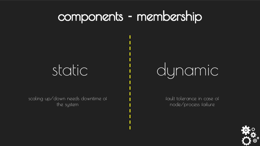 components - membership static dynamic fault to...