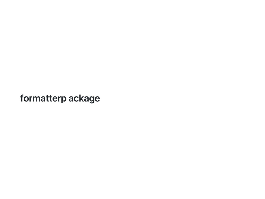 formatter package