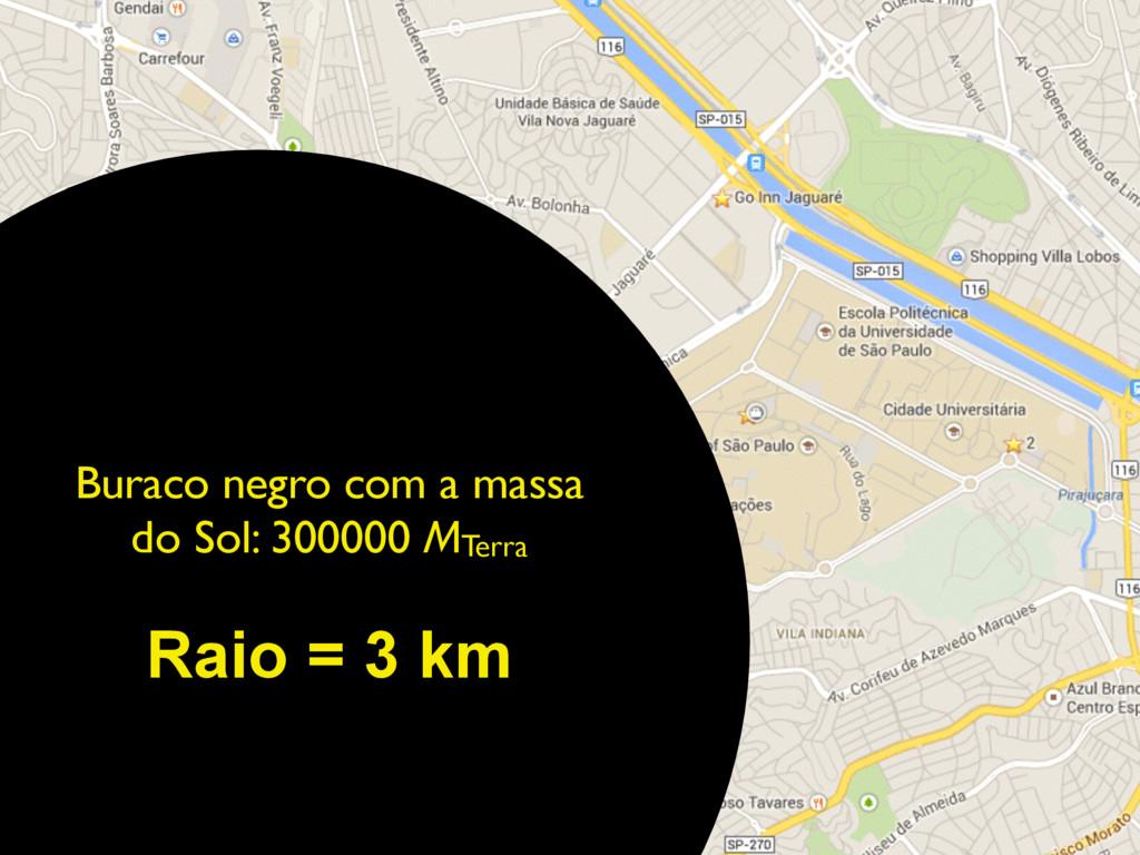 Buraco negro com a massa do Sol: 300000 MTerra ...