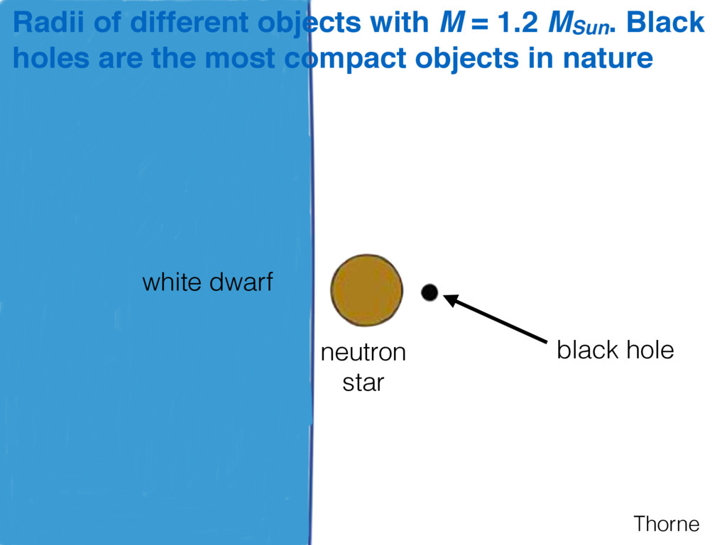 Thorne Radii of different objects with M = 1.2 ...