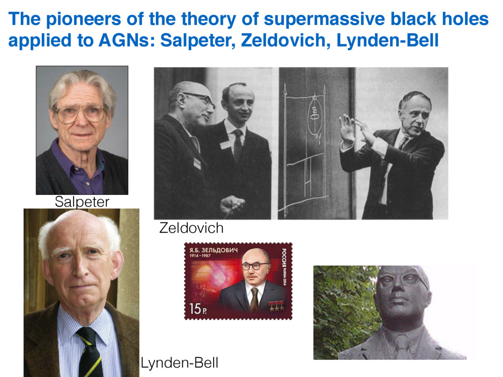 The pioneers of the theory of supermassive blac...