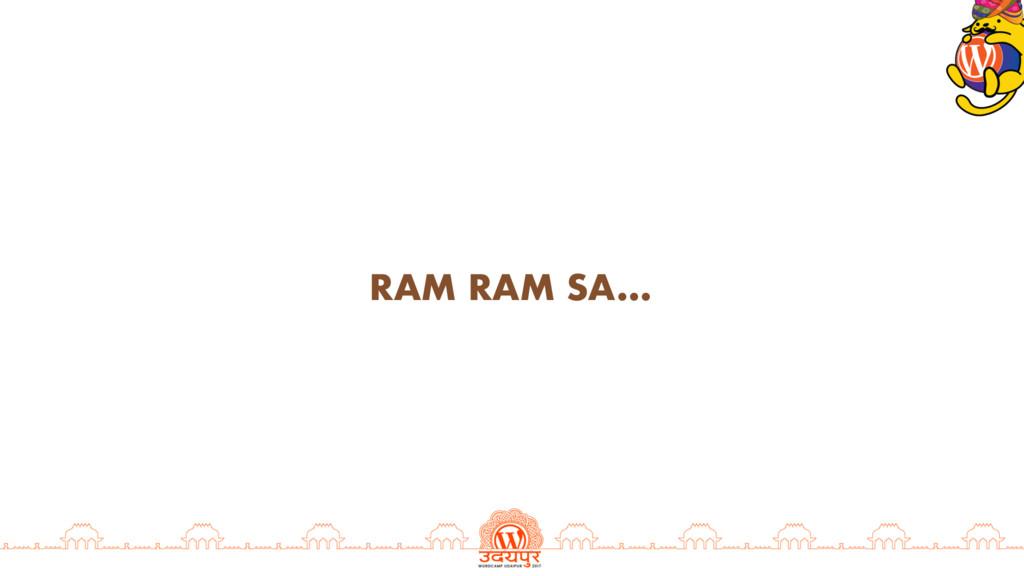RAM RAM SA…