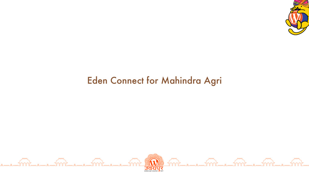 Eden Connect for Mahindra Agri