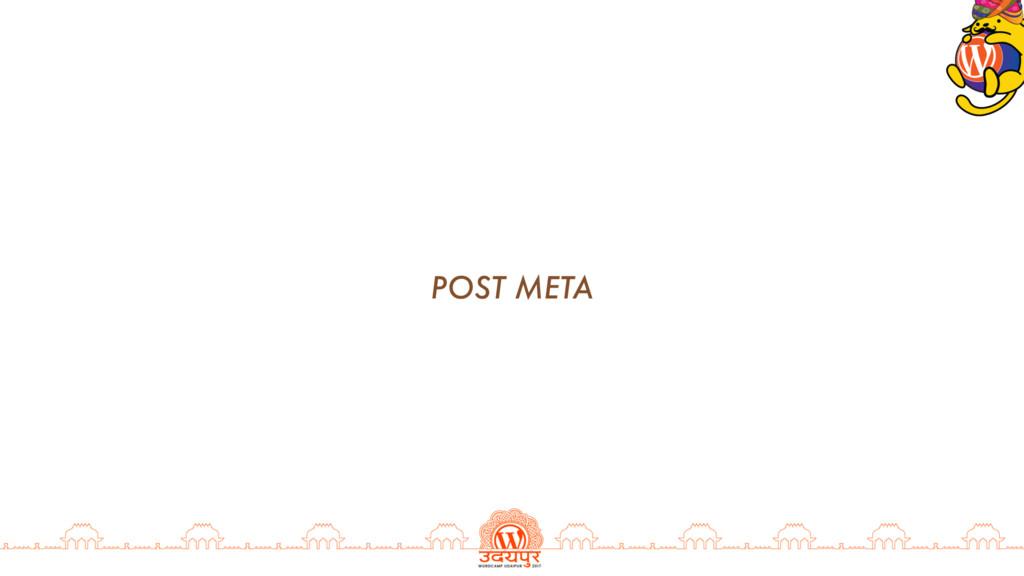POST META