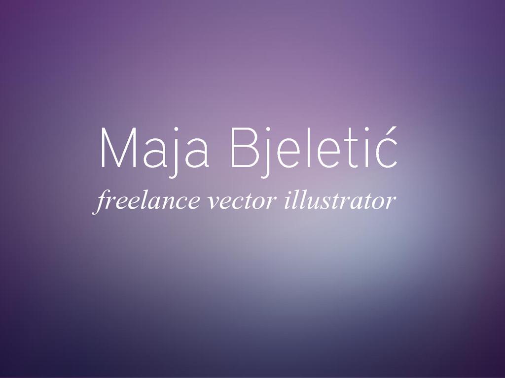 freelance vector illustrator