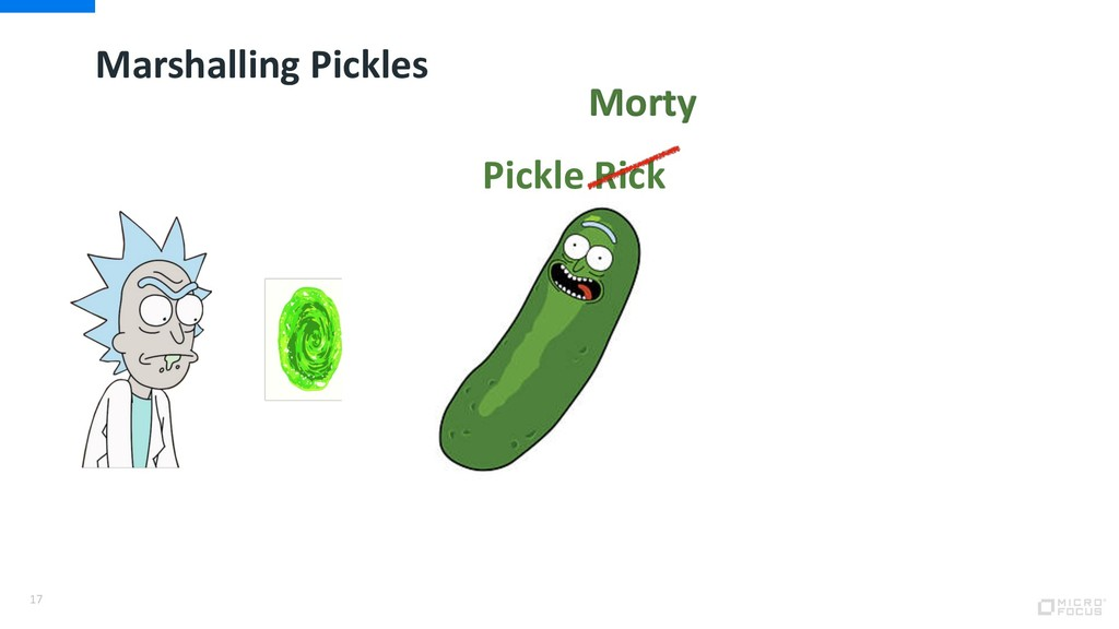 Marshalling Pickles 17 Morty Pickle Rick