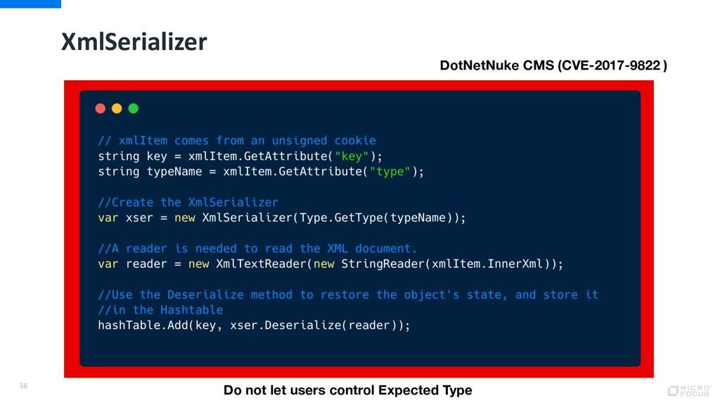 XmlSerializer 38 DotNetNuke CMS (CVE-2017-9822 ...