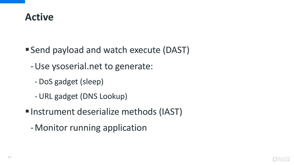 Active §Send payload and watch execute (DAST) -...