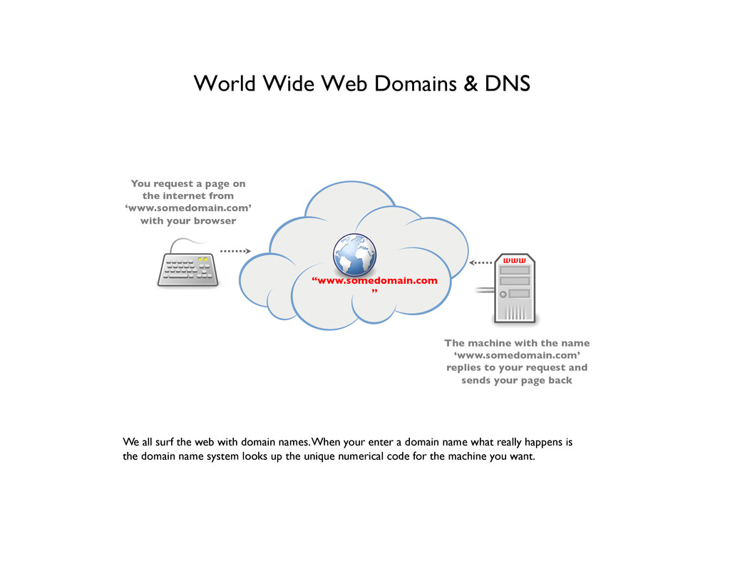 World Wide Web Domains & DNS  We all surf the...