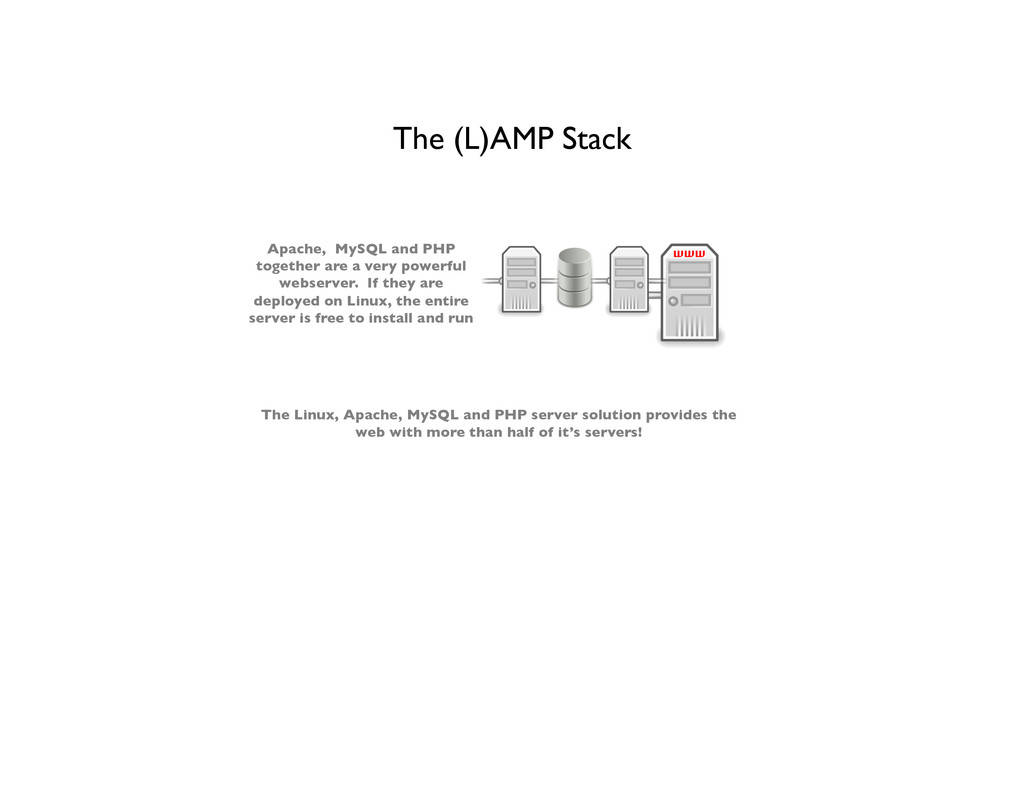 The (L)AMP Stack  Apache, MySQL and PHP toget...