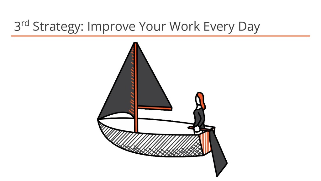 3rd Strategy: Improve Your Work Every Day