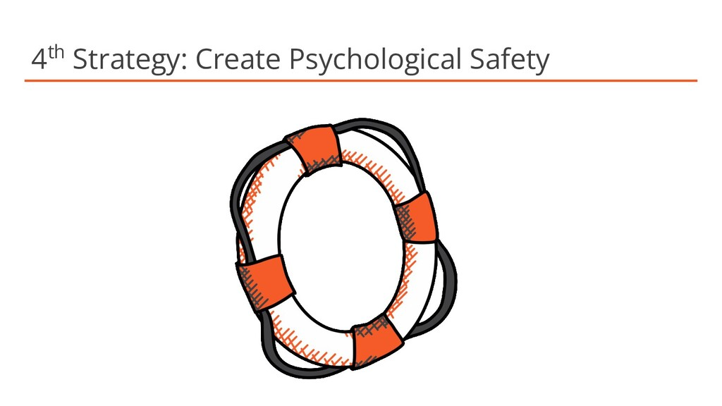 4th Strategy: Create Psychological Safety