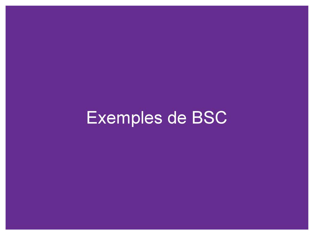 Exemples de BSC