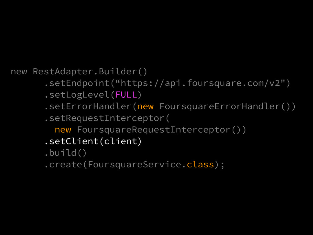"new RestAdapter.Builder() .setEndpoint(""https:/..."