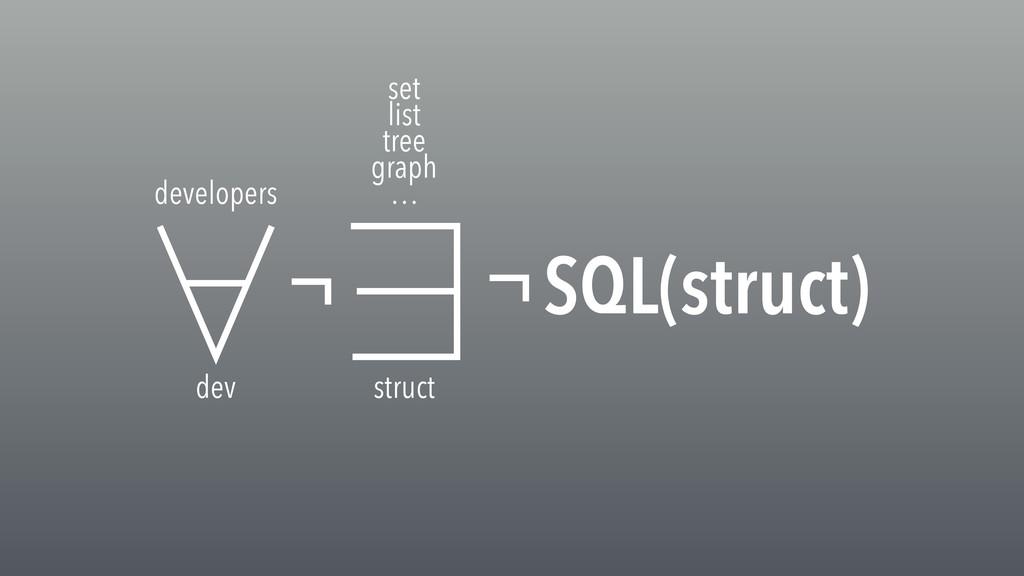 dev developers struct set list tree graph … SQL...