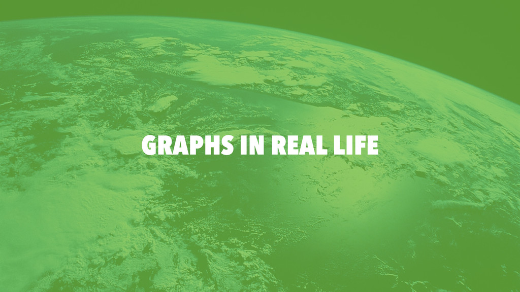 GRAPHS IN REAL LIFE