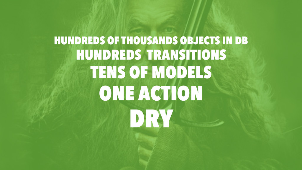 HUNDREDS TRANSITIONS TENS OF MODELS ONE ACTION ...