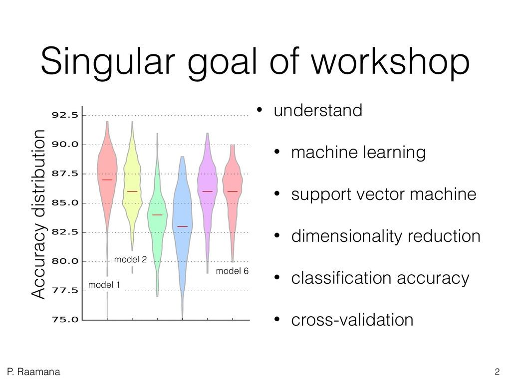 P. Raamana Singular goal of workshop Accuracy d...