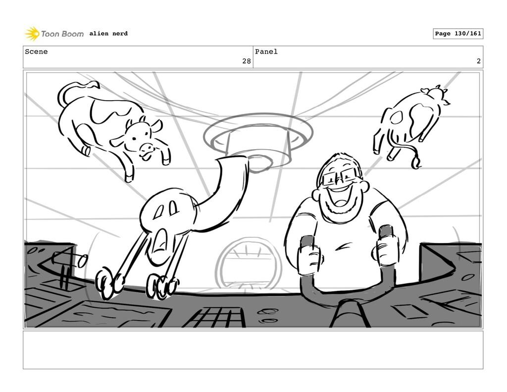 Scene 28 Panel 4 alien nerd Page 132/161