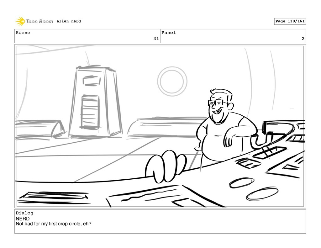 Scene 32 Panel 1 alien nerd Page 140/161