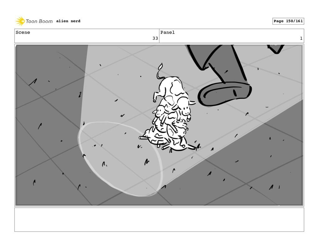 Scene 33 Panel 3 alien nerd Page 152/161