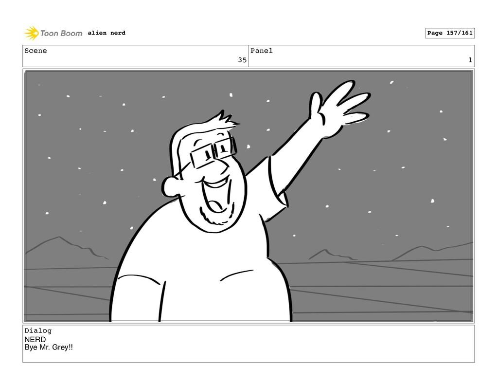 Scene 35 Panel 3 alien nerd Page 159/161