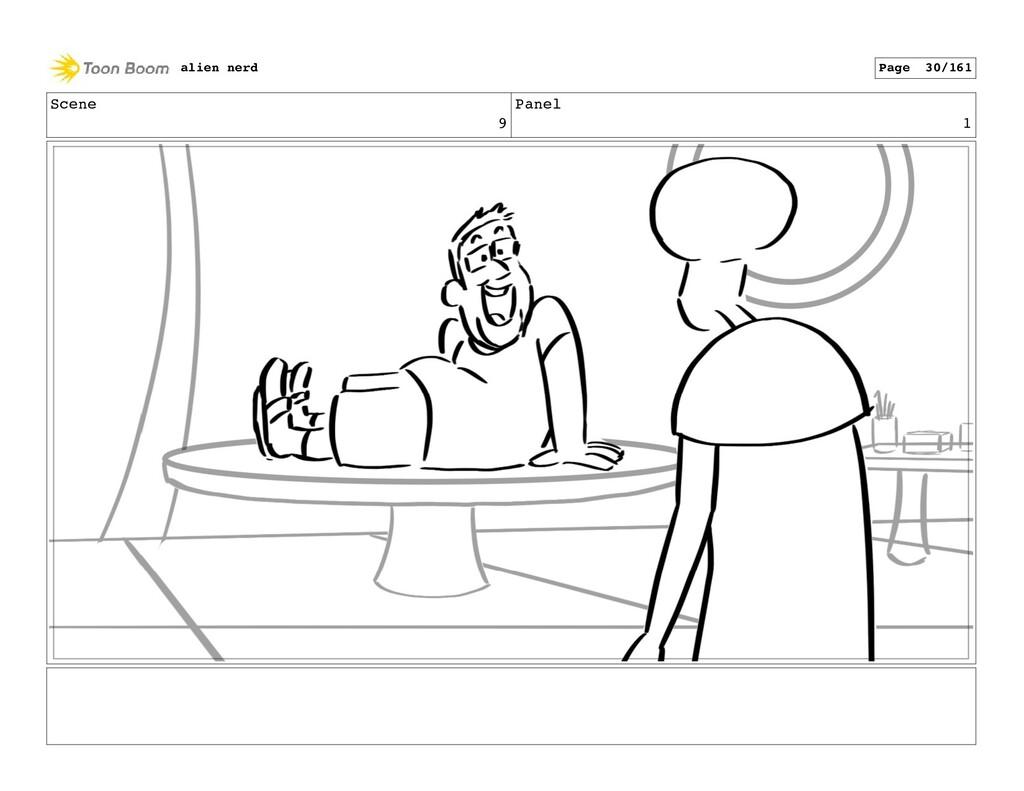 Scene 9 Panel 3 alien nerd Page 32/161