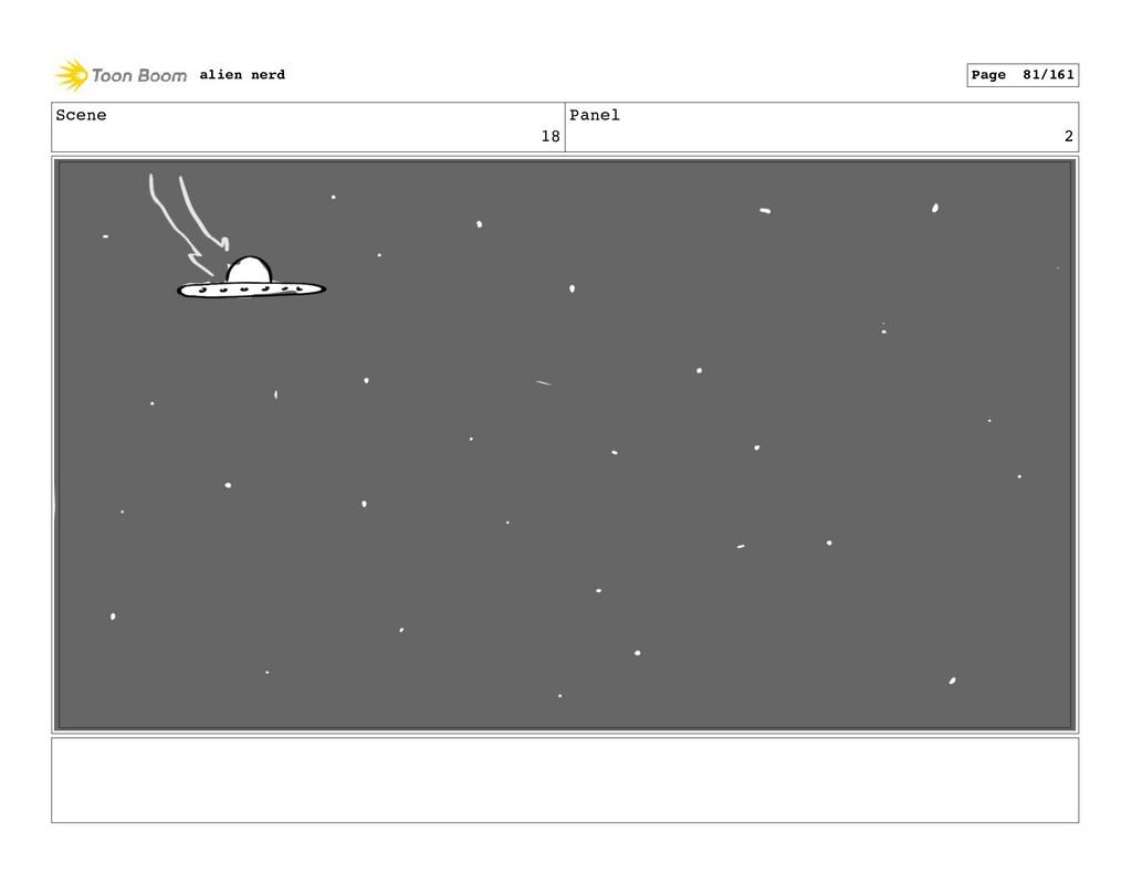 Scene 18 Panel 4 alien nerd Page 83/161