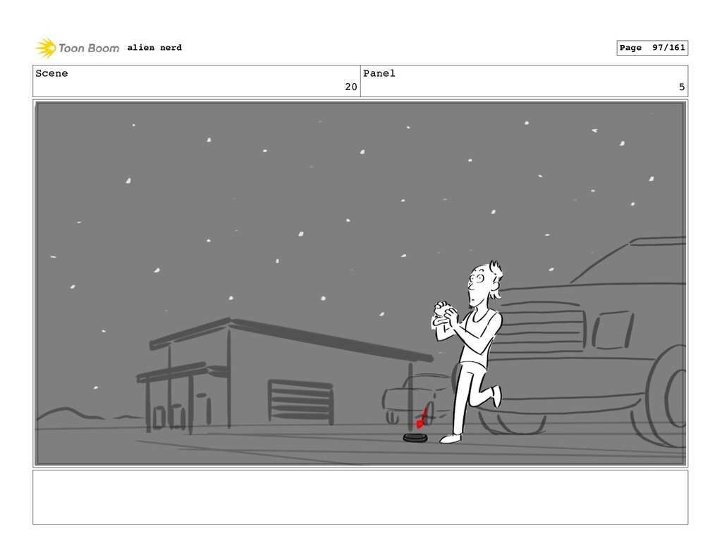 Scene 21 Panel 2 alien nerd Page 99/161