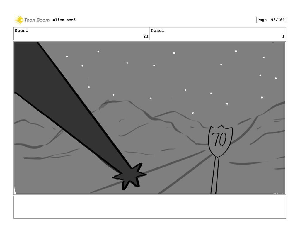 Scene 21 Panel 3 alien nerd Page 100/161