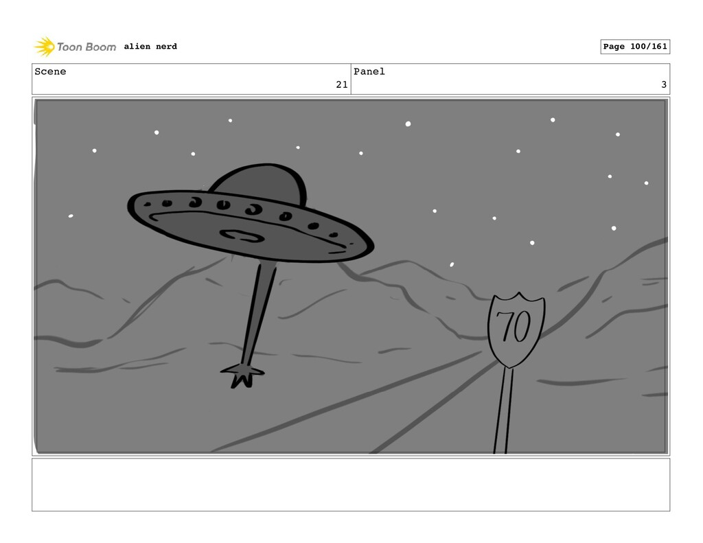 Scene 22 Panel 1 alien nerd Page 102/161