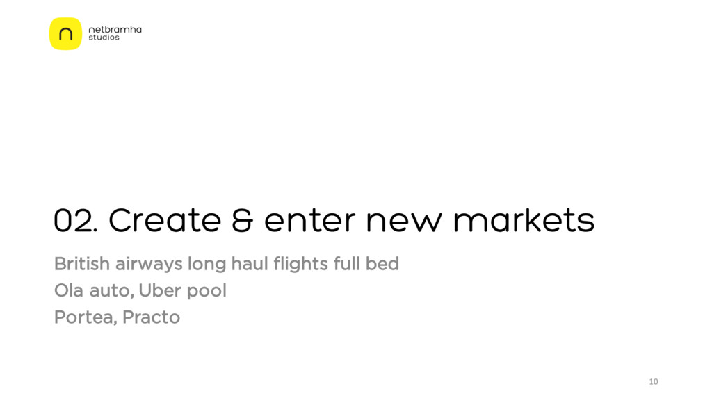 02. Create & enter new markets British airways ...