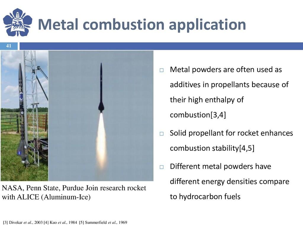 Metal combustion application 41  Metal powders...