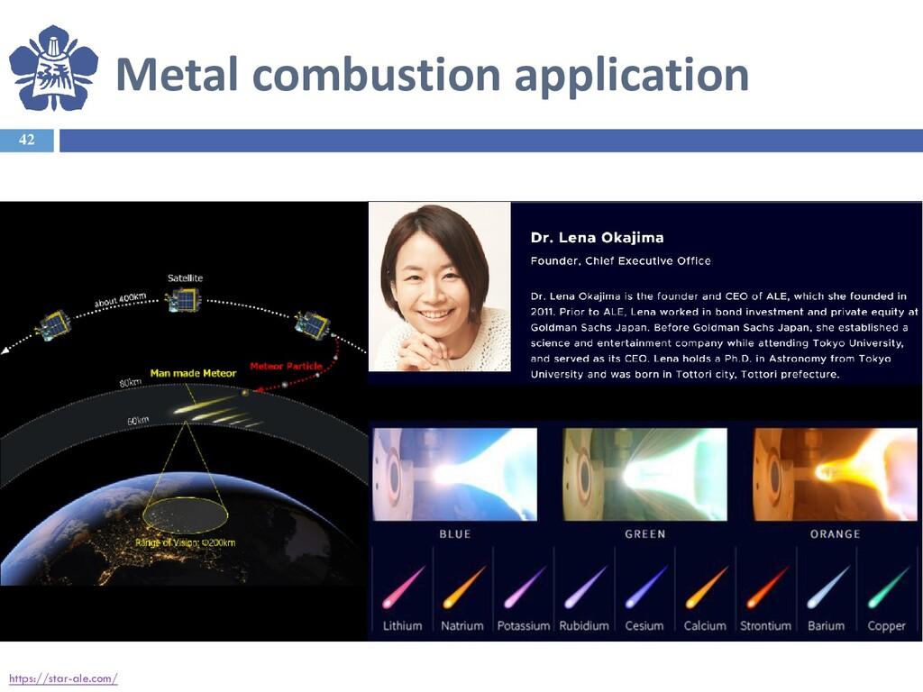 Metal combustion application 42 https://star-al...