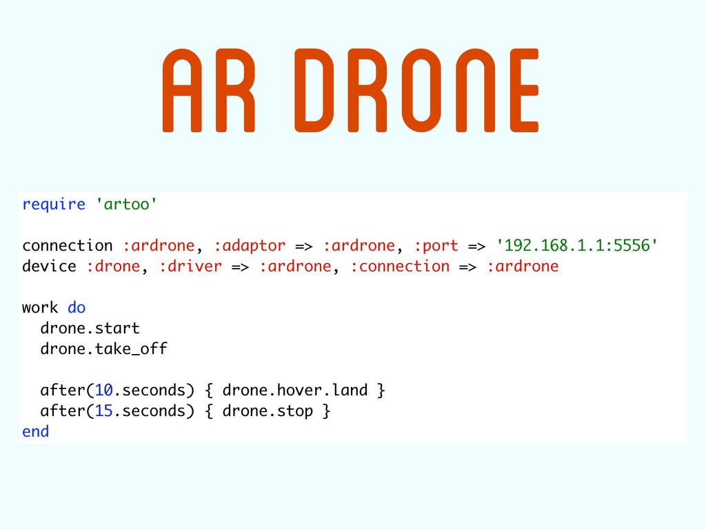require 'artoo' connection :ardrone, :adaptor =...