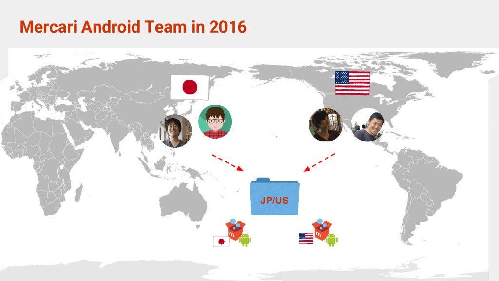 Mercari Android Team in 2016 JP/US