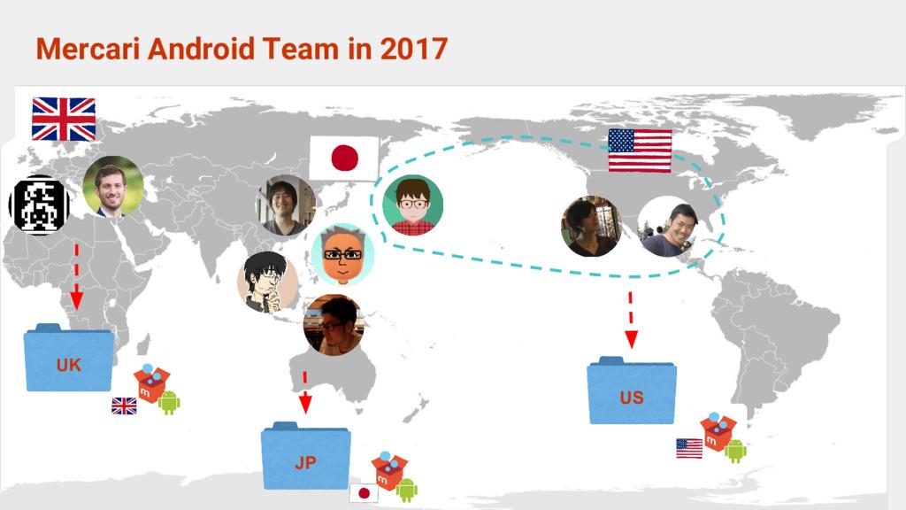 Mercari Android Team in 2017 US JP UK