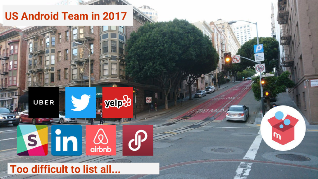 US Android Team in 2017 Too difficult to list a...