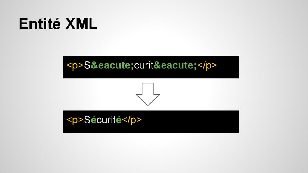 Entité XML <p>S&eacute;curit&eacute;</p> <p>Séc...