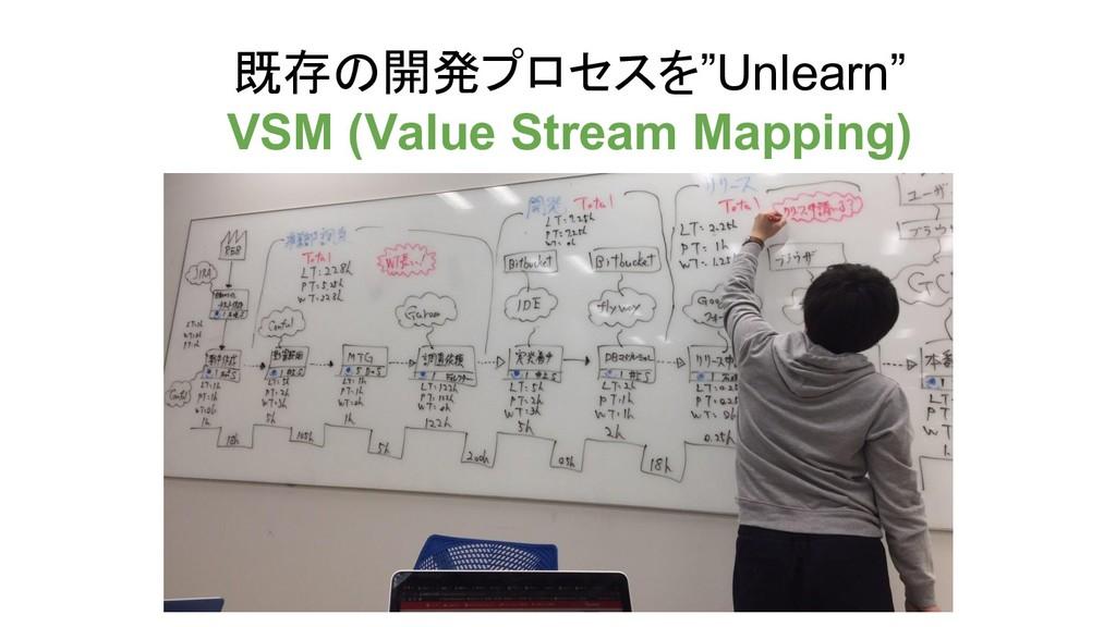 """既存の開発プロセスを""""Unlearn"""" VSM (Value Stream Mapping)"""