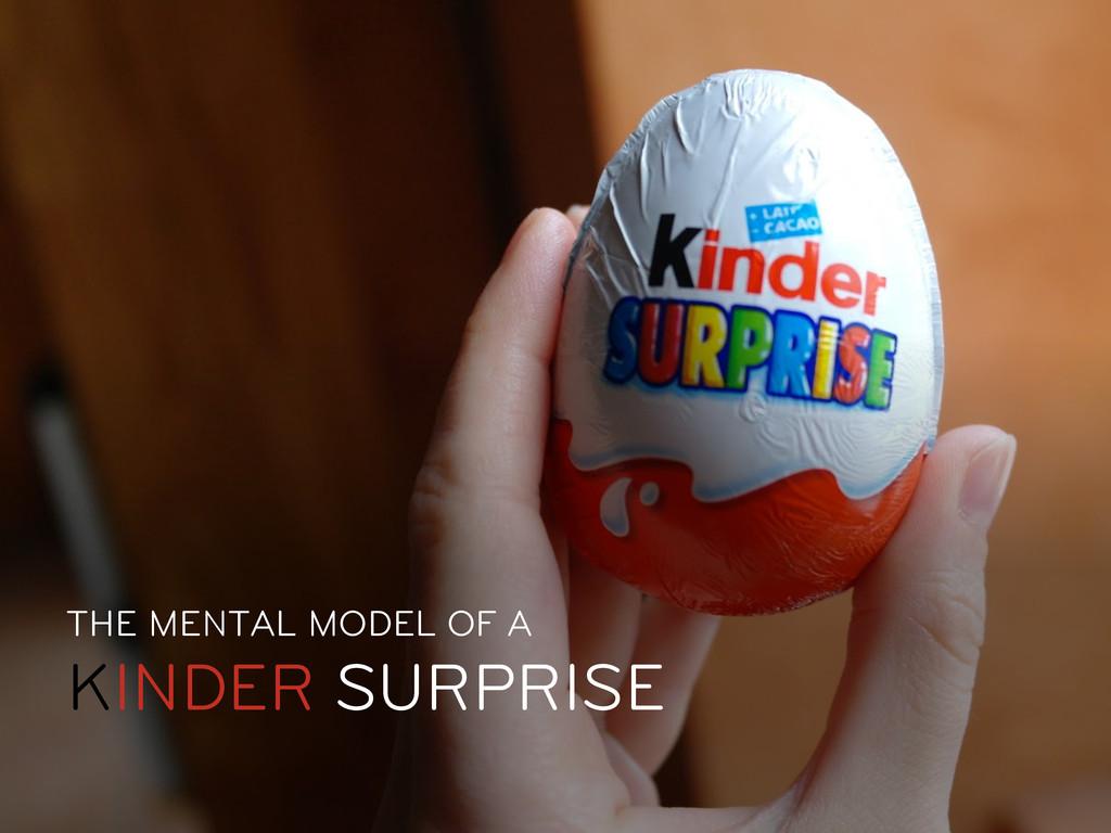 THE MENTAL MODEL OF A KINDER SURPRISE