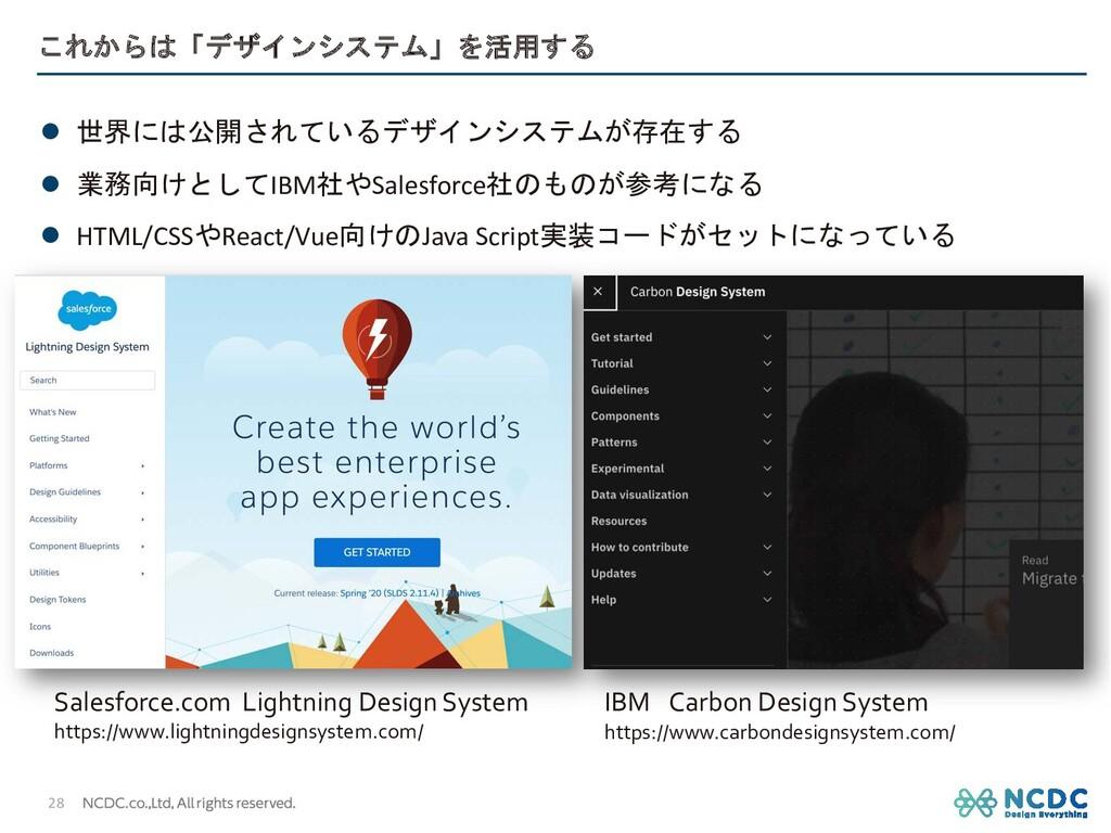 これからは「デザインシステム」を活用する l 世界には公開されているデザインシステムが存在する...