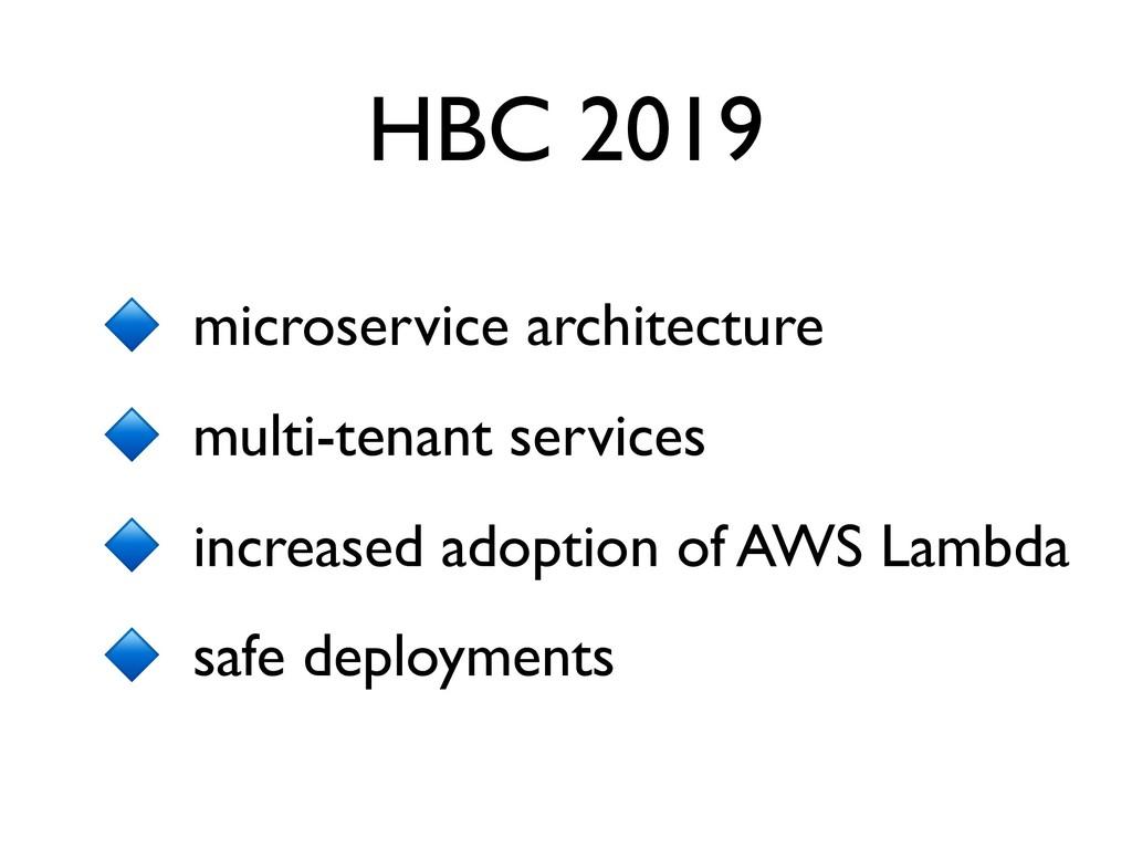 HBC 2019 microservice architecture multi-tenant...