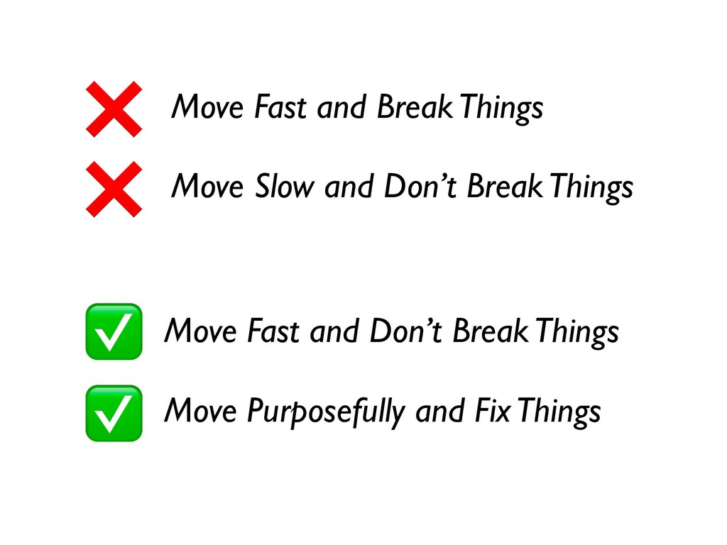 Move Fast and Break Things Move Slow and Don't ...