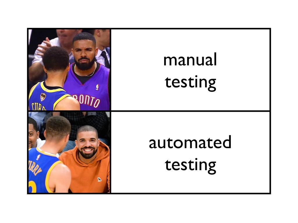 manual testing automated testing