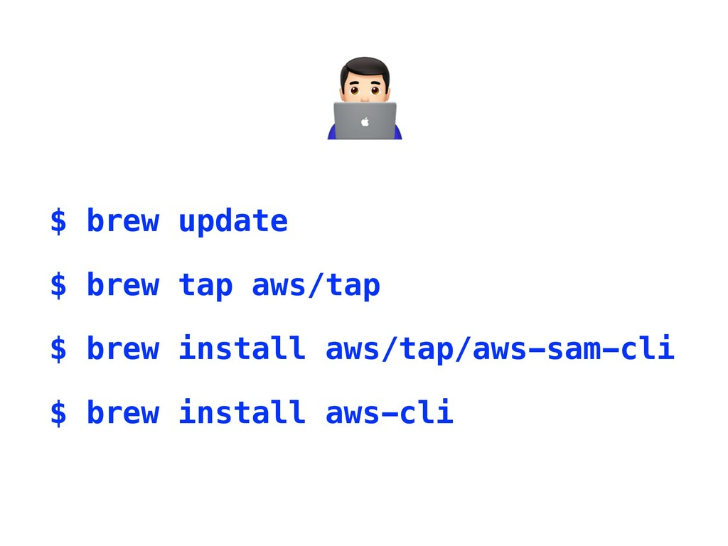 $ brew update $ brew tap aws/tap $ brew install...