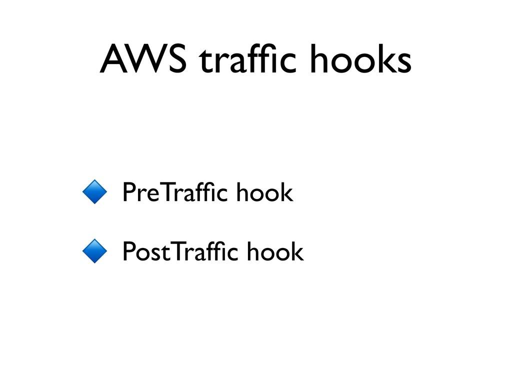 AWS traffic hooks PreTraffic hook PostTraffic hook