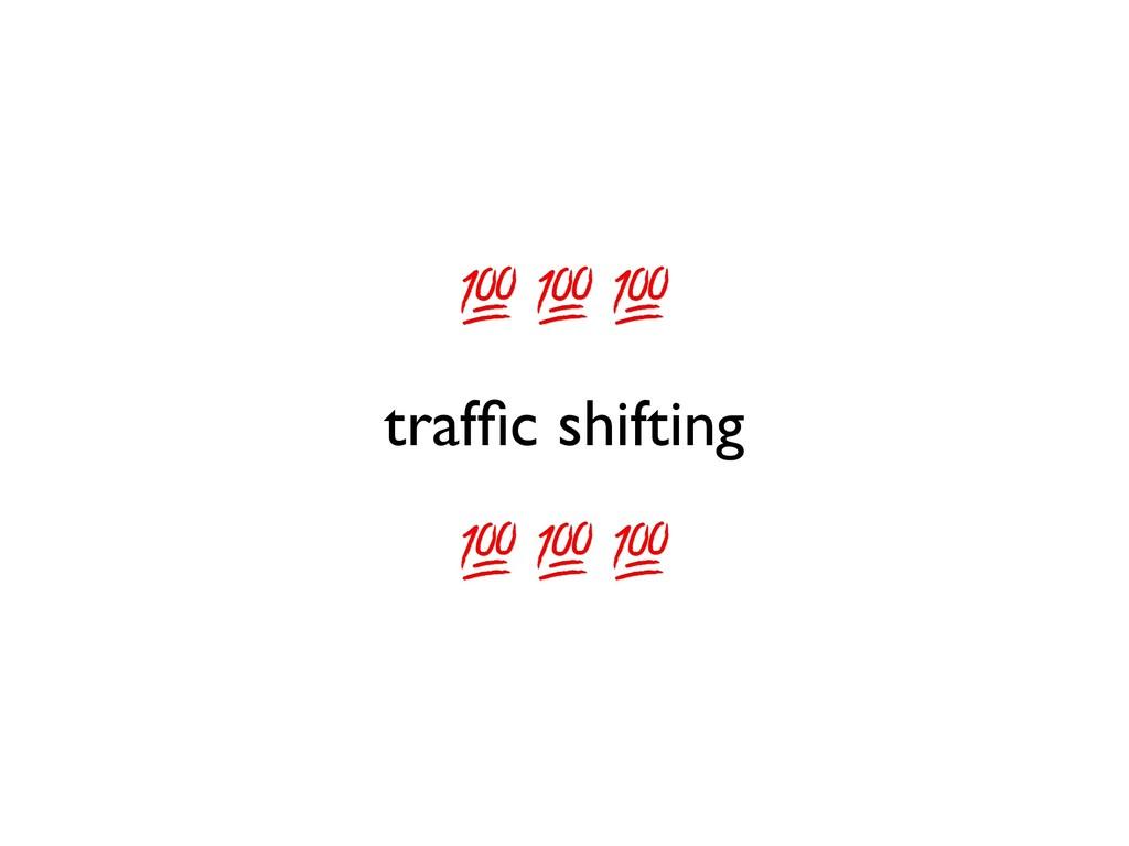 traffic shifting